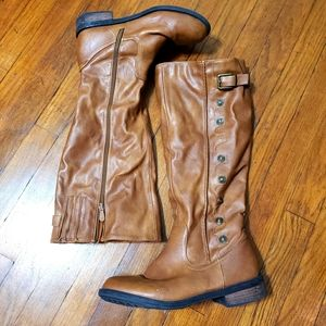 Dream Pairs boots brown faux womens size 9.5